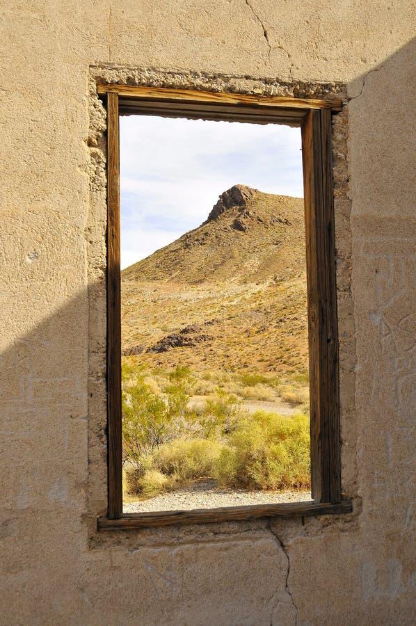 pustynny ducha krajobrazu miasteczko zdjęcia royalty free