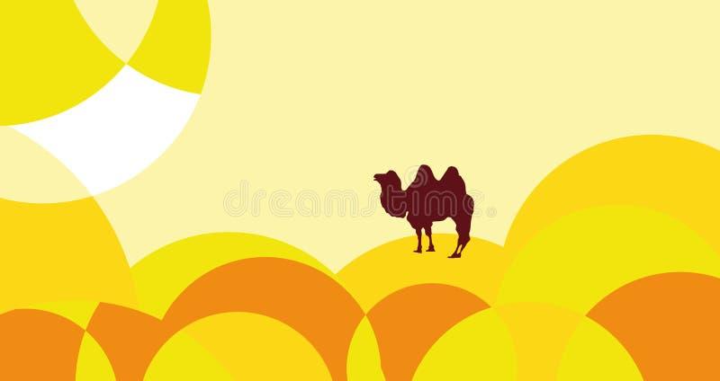 pustynny gorący royalty ilustracja