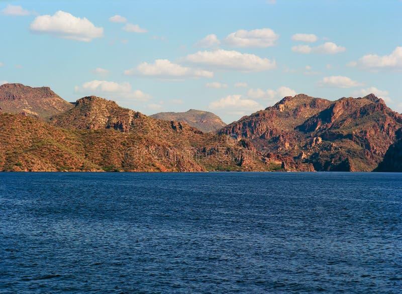 Pustynny jezioro zdjęcie royalty free