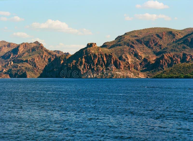 Pustynny jezioro zdjęcia royalty free