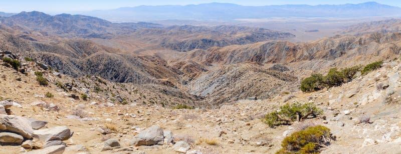 Pustynny krajobraz przy Joshua drzewa parkiem narodowym obraz stock