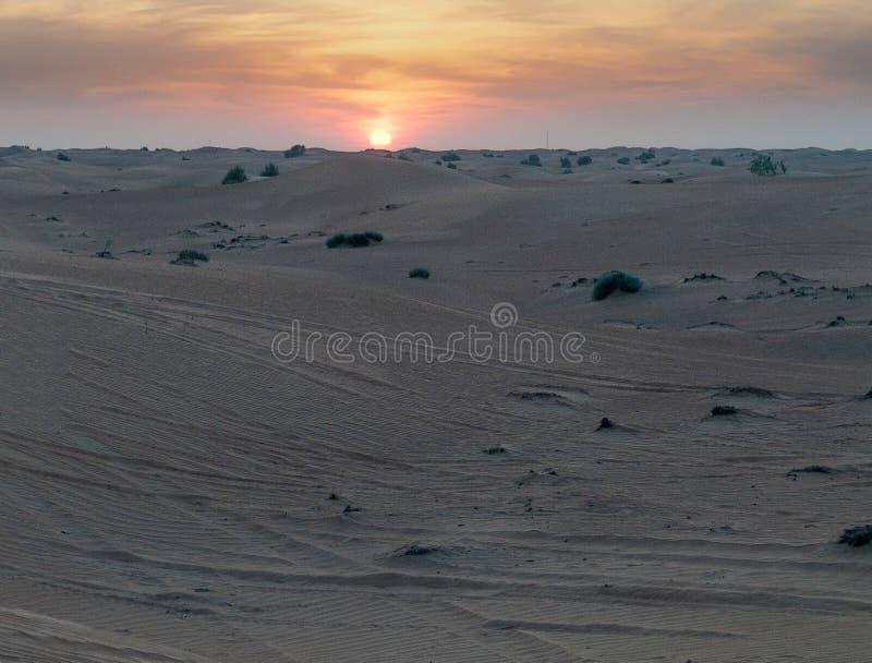Pustynny krajobraz w Dubaj safari, UAE obrazy royalty free