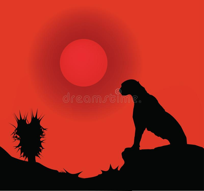 pustynny lampart ilustracja wektor