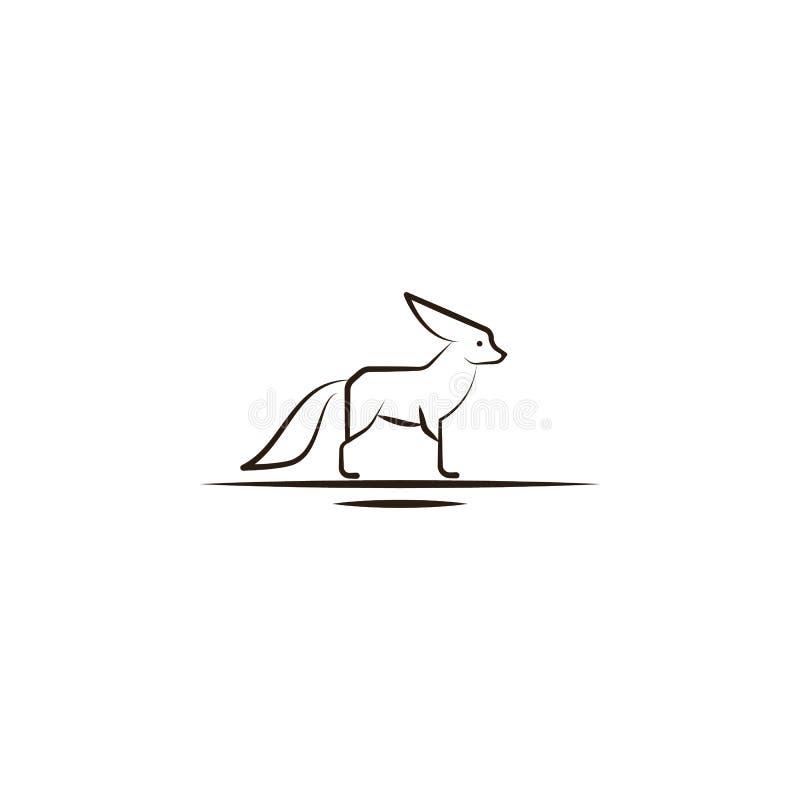 pustynny lis, zwierzęca ikona Element pustynna ikona dla mobilnych pojęcia i sieci apps Ręka remisu pustyni lis, zwierzęca ikona  ilustracji