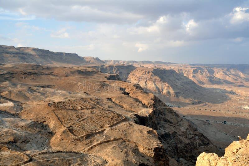 pustynny masada negev widok fotografia stock