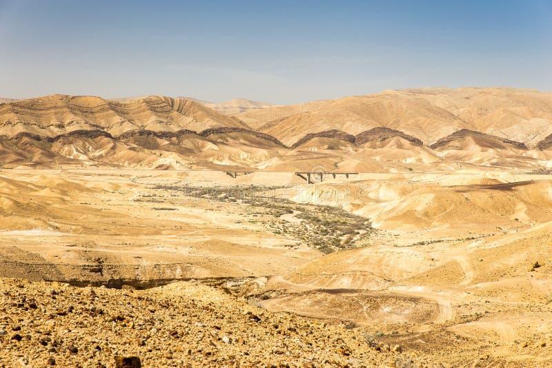 Pustynny mosta krajobrazu widok, Izrael natura fotografia stock