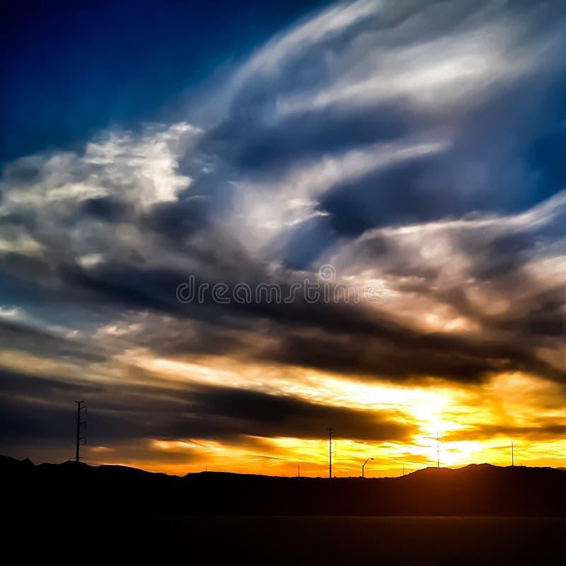 Pustynny niebo przy świtem obrazy stock