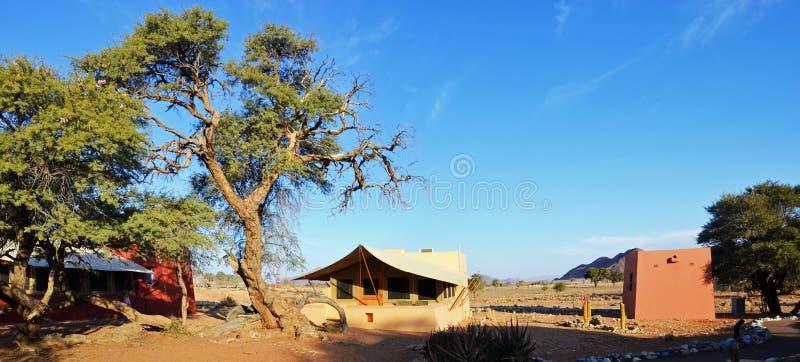 Pustynny obóz w Namib zdjęcia royalty free