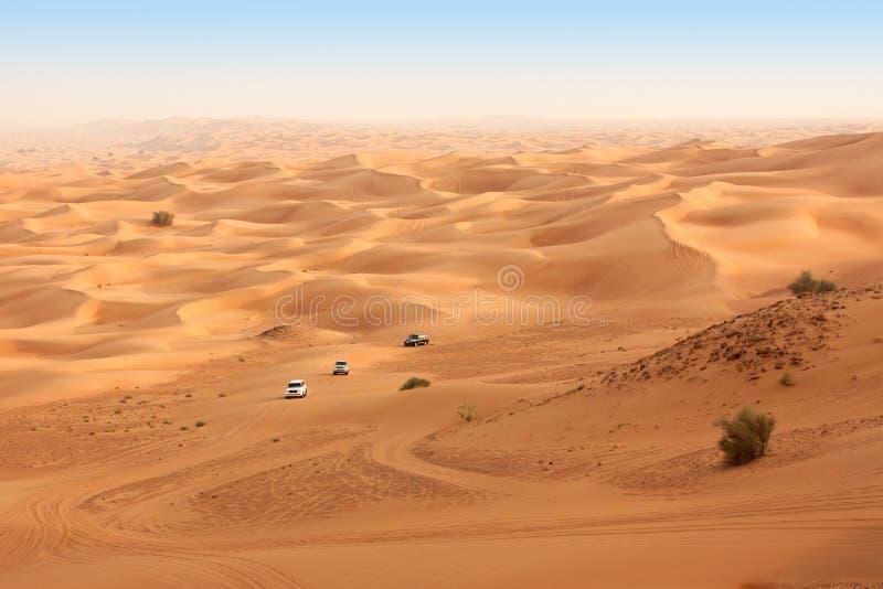 Pustynny safari blisko Dubaj. UAE fotografia royalty free