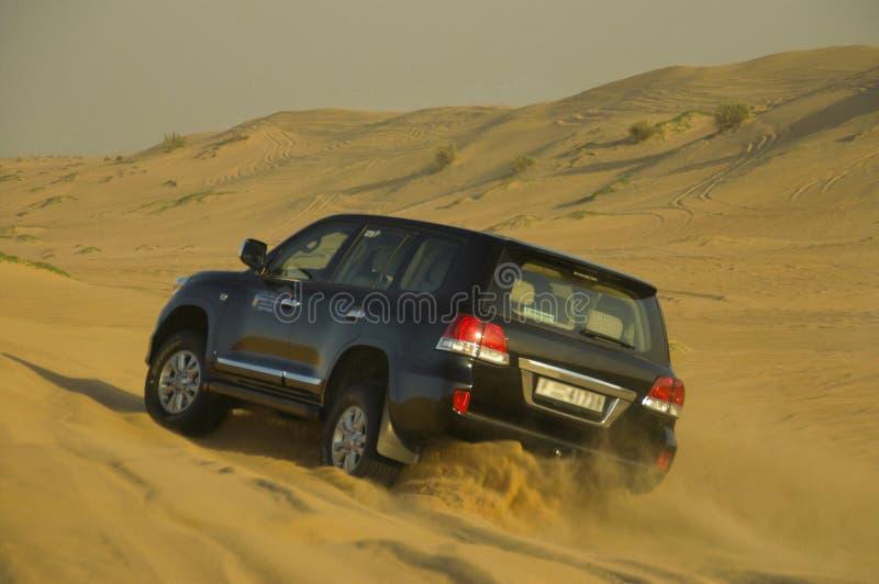 Pustynny safari na dżipie, diuna wali w Dubaj obraz royalty free