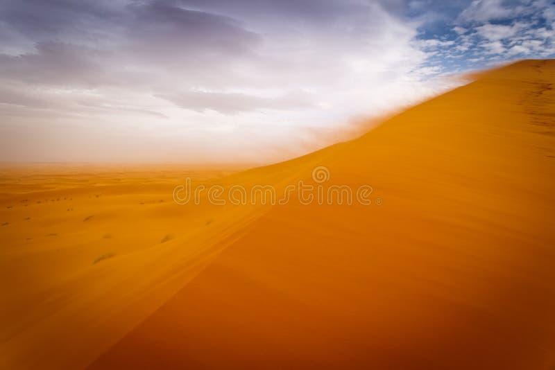 pustynny Sahara burzy wiatr fotografia royalty free