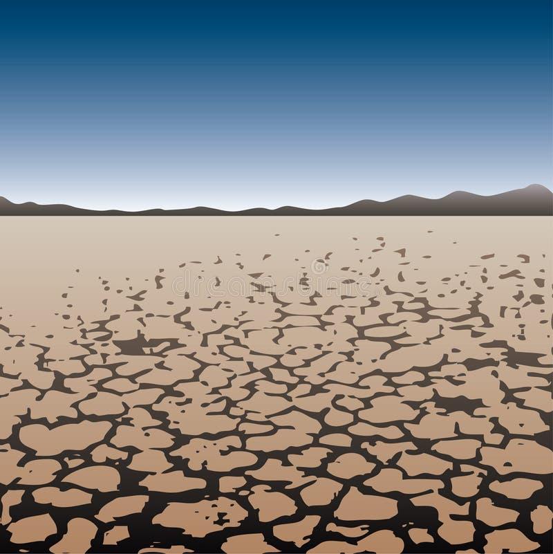 pustynny suchy ląd ilustracja wektor