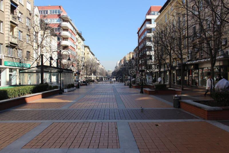 Pustynny Vitoshka na niedziela rano w Sofiа - od Bułgaria zdjęcia royalty free