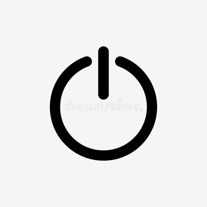 puszek ikona zamyka W?adza On/Off znak r?wnie? zwr?ci? corel ilustracji wektora ilustracji