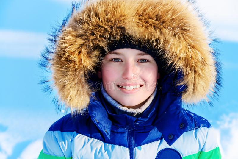 Puszek kurtka z kapiszonem zdjęcie stock