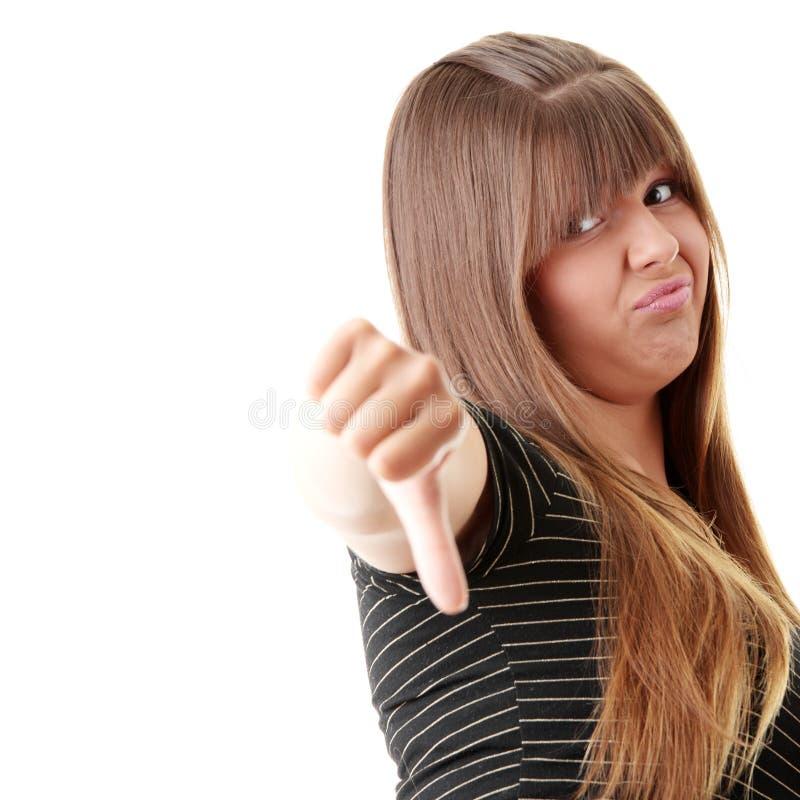 puszek pokazywać kciuków kobiety potomstwa zdjęcia royalty free