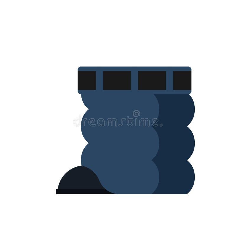 Puszków spodnia odizolowywający ciągnie daleko cajgu wektoru ilustrację ilustracja wektor