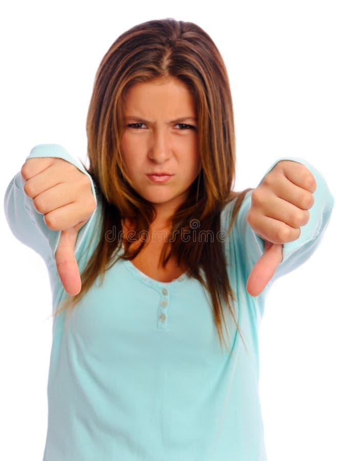 puszka dziewczyny kciuki fotografia stock