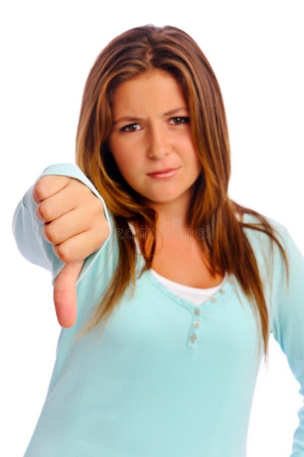 puszka dziewczyny kciuki obrazy stock