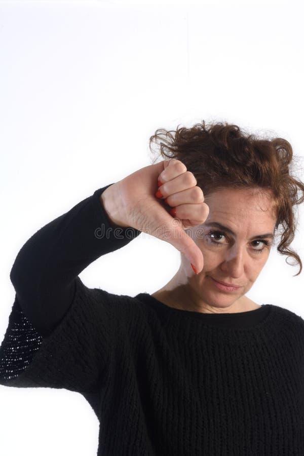 puszka kciuka kobieta fotografia royalty free