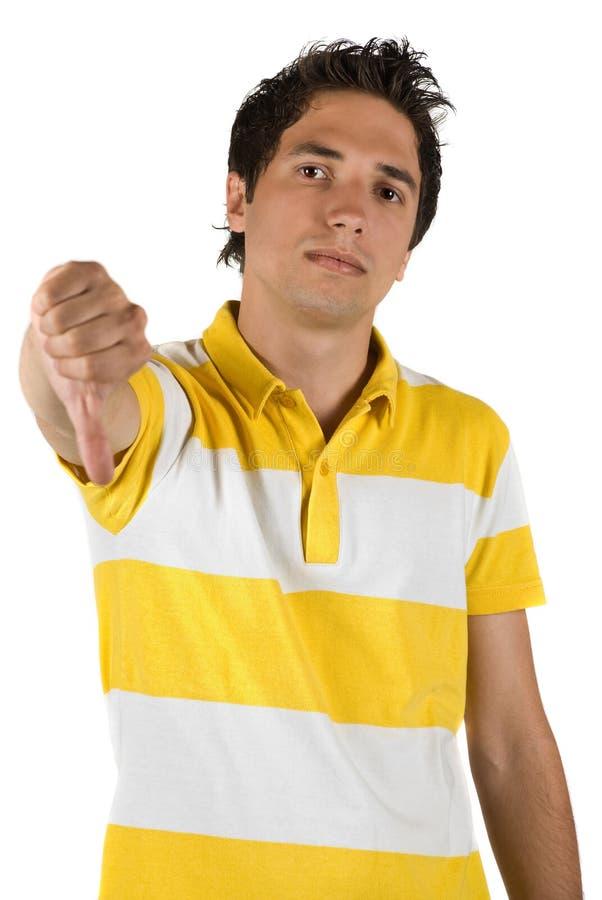 puszka mężczyzna smutny kciuk fotografia royalty free
