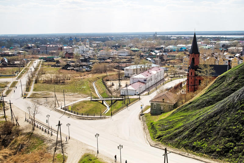 Puszka miasteczko Tobolsk, Rosja fotografia stock