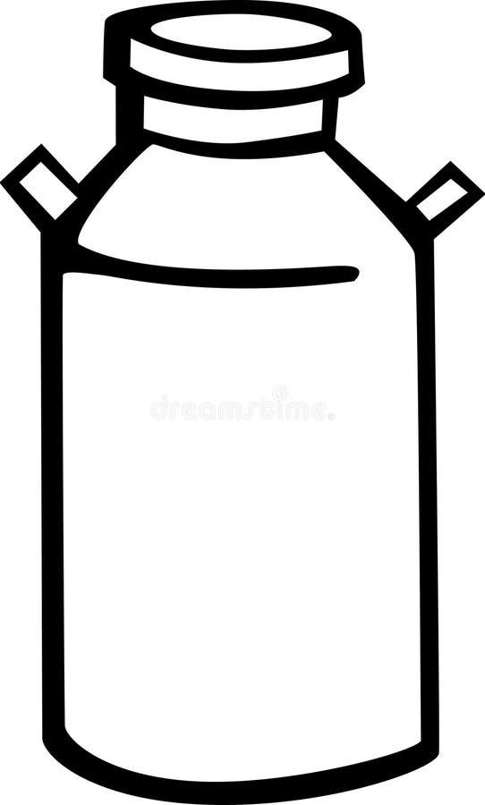 puszka mleko ilustracji