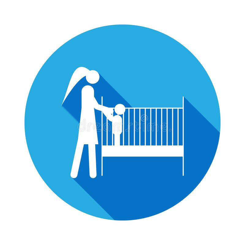 put the child to sleep icon. Element of life married people illustration. Signs and symbols collection icon for websites, web royalty free illustration