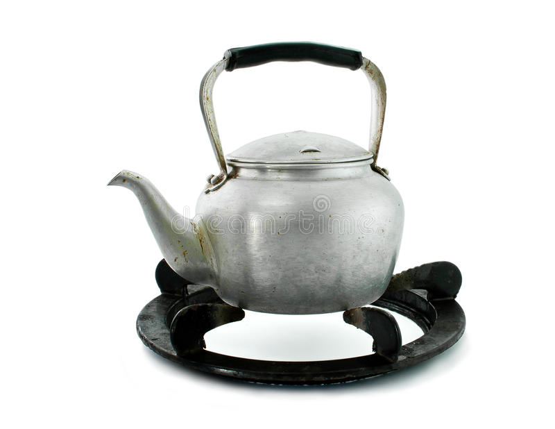 Put the kettle on stand stock photo