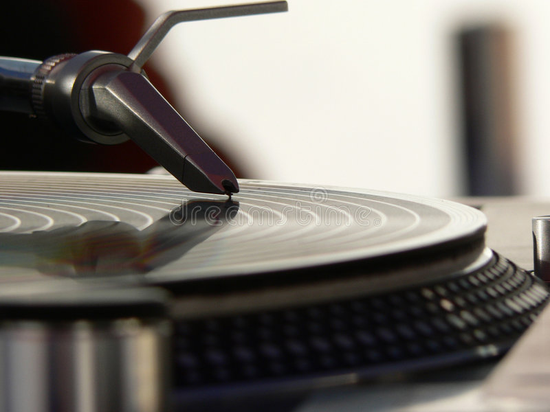 Put the needle on the record royalty free stock images