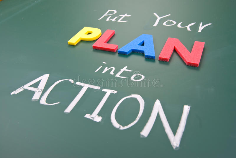 Download Put your plan into action stock image. Image of activity - 18575991
