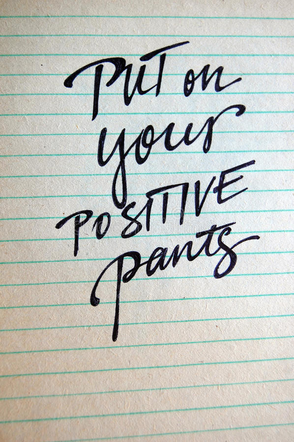 Download Put On Your Positive Pants Calligraphic Background Stock Illustration - Image: 83712751