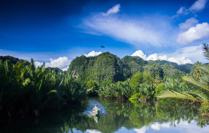 Pute River in Indonesia royalty free stock images