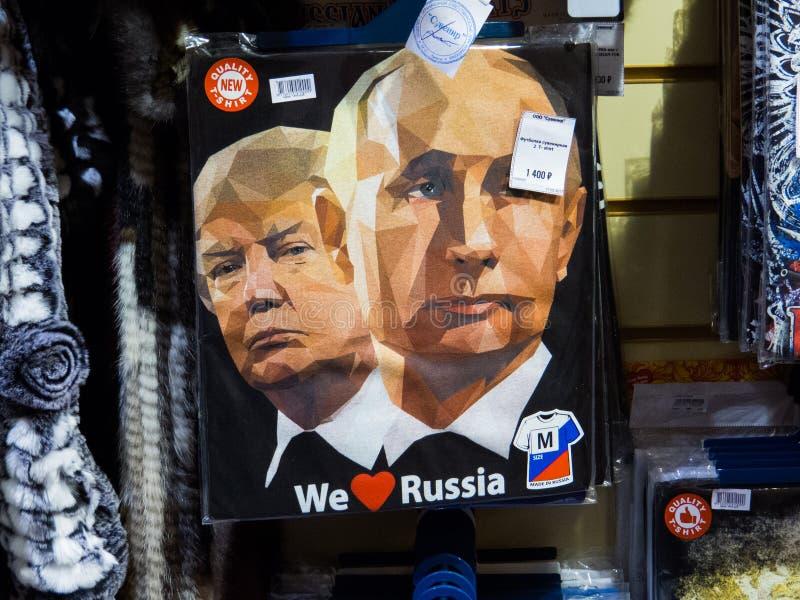 Putin e trunfo foto de stock