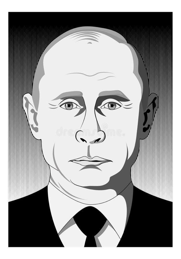 Putin enfrenta ilustração stock