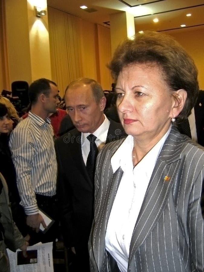Putin&Grechanay stock photo