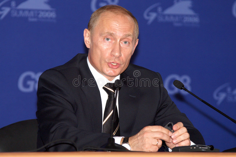 Putin Vladimir1 stockbilder