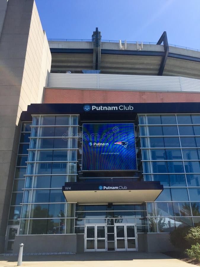 Putnam Club at Gillette Stadium. The Putnam Club Gillette Stadium, Foxboro, MA stock image
