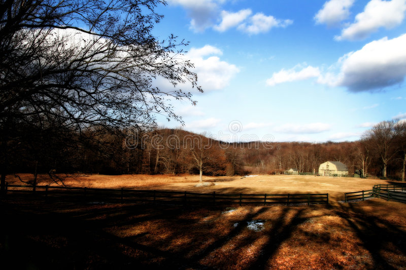 Putnam County. A field in Putnam County, NY stock photography