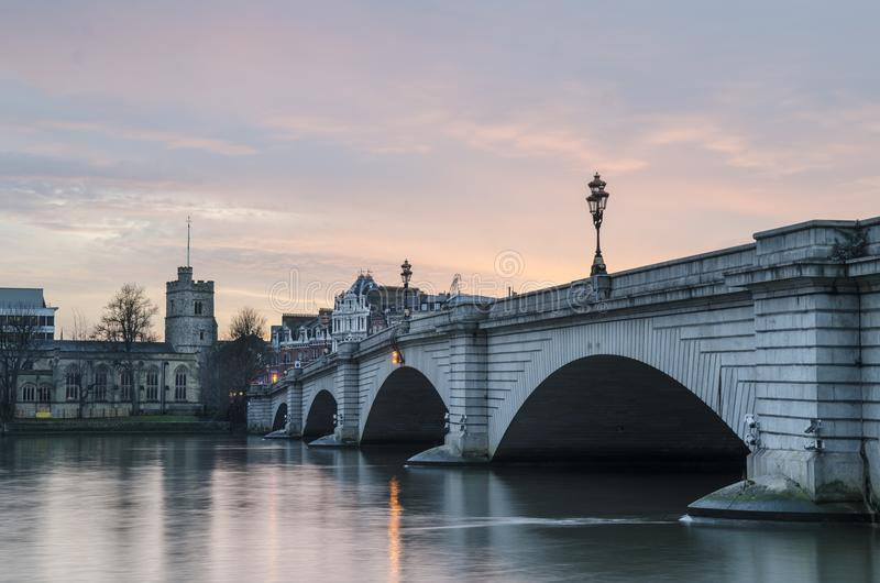 Putney Bridge, London stock image