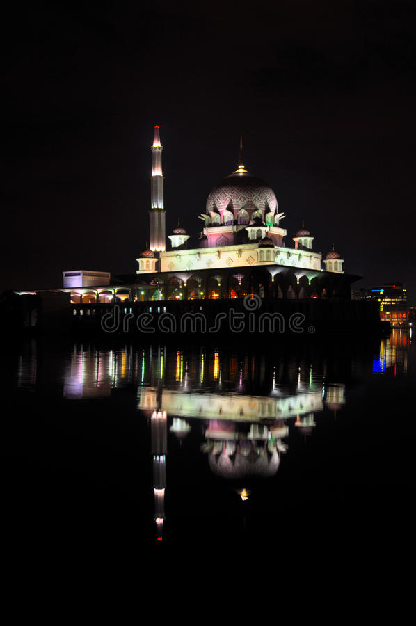 Download Putra Mosque Night View stock image. Image of prayer - 16823333