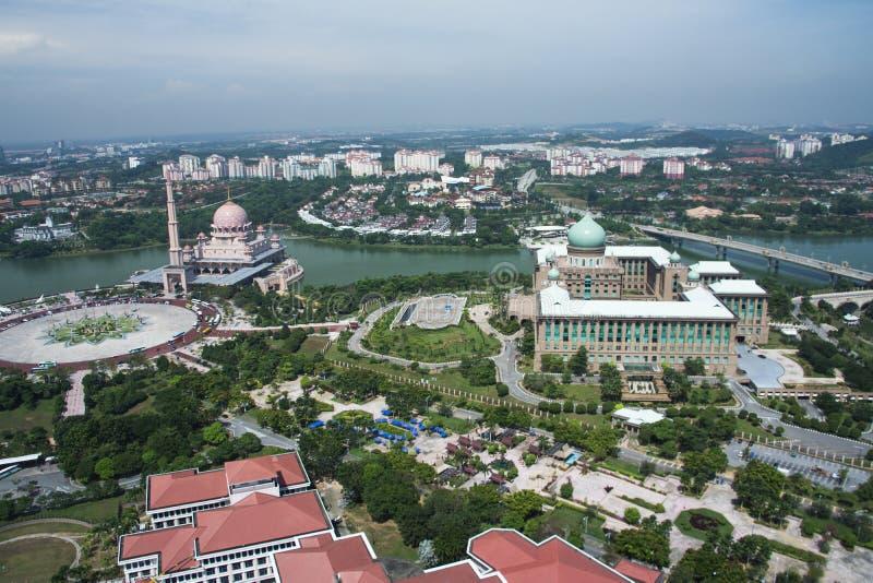 Putra Mosque & Perdana Putra Building royalty free stock images