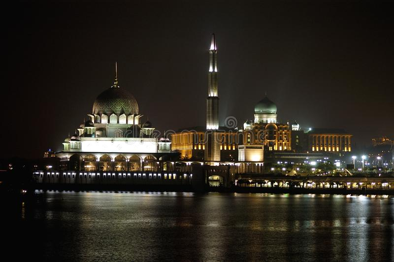 Putra Mosque and Perdana Putra Building royalty free stock images