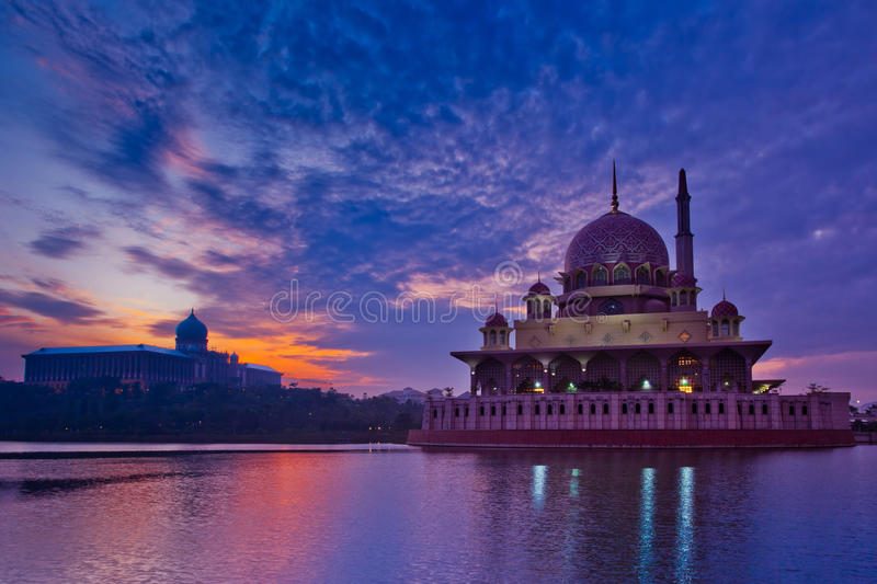 Putra Mosque And Sunrise Royalty Free Stock Photography