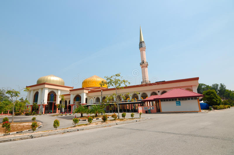 Putra Nilai清真寺在Nilai,森美兰,马来西亚 图库摄影
