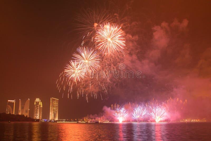 Putrajaya fajerwerków Międzynarodowa rywalizacja 2013 fotografia stock