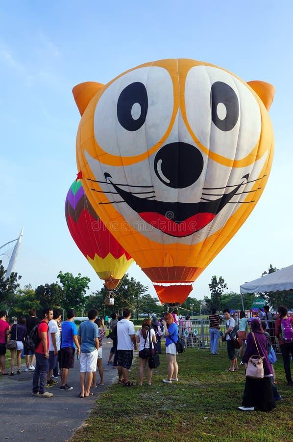 5to Fiesta 2013 del globo del aire caliente de Putrajaya foto de archivo