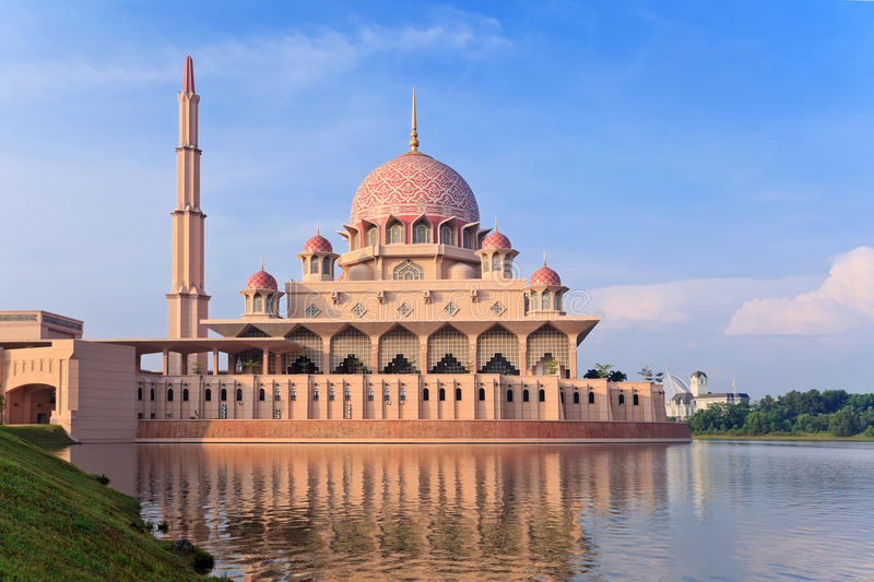 Putrajaya, Malaysia. Putra Mosque located in Putrajaya city the new Federal Territory of Malaysia royalty free stock image
