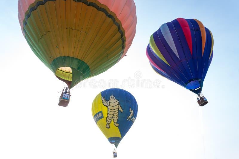 De Fiesta van de Ballon van de hete Lucht stock afbeeldingen