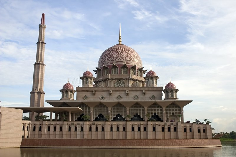 Putrajaya Mosque, Kuala Lumpur, Malaysia. stock photography